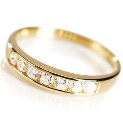 DiamondAura® Gold Vermeil Classic Channel Set Ring