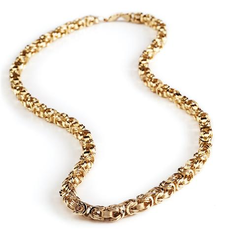 14K Gold Byzantine Braided Necklace