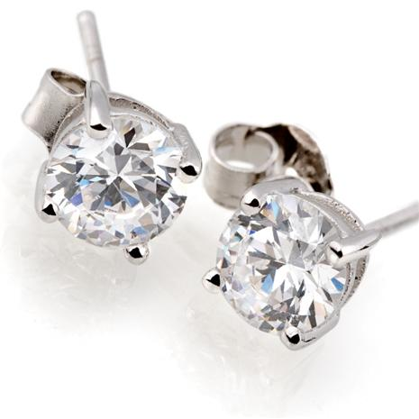14K White Gold DiamondAura® Studs
