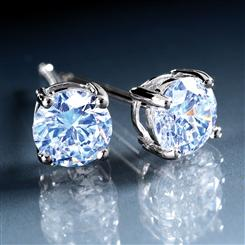 DiamondAura® Classic 4-prong Stud Earrings