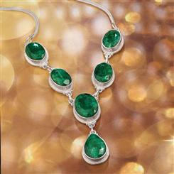 Carnaval Faceted Emerald Necklace