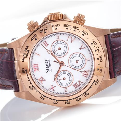 Stauer Rose Gold-Finished Monaco Watch