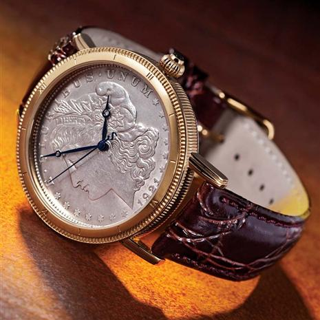 Morgan Silver Dollar Men's Watch