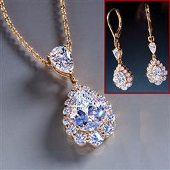 Diamond<em>Aura</em>&reg; Royal Pear Necklace & Earrings Set