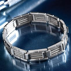 Vincenzo Stainless Steel Mens Bracelet