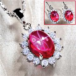 Aster Scienza® Ruby Necklace & Earrings