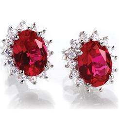 Scienza® Crimson Passion Earrings (1 1/4 Ctw)