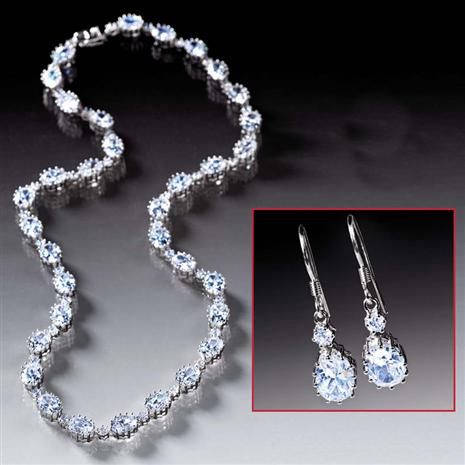 Diamondaura Rivieré Necklace Earrings Set