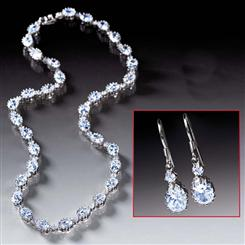 Diamondaura® Rivieré Necklace & Earrings Set