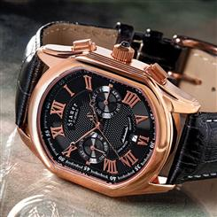 Stauer Rose-Gold Midnight Meisterzeit Mens Watch