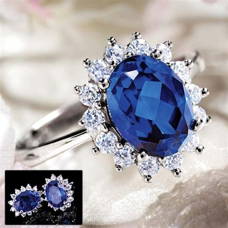 Royal Proposal Scienza® Sapphire Ring & FREE Earrings
