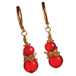Daria Red Agate Earrings