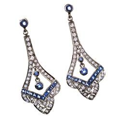 Cabaret Natural Sapphire & DiamondAura® Earrings