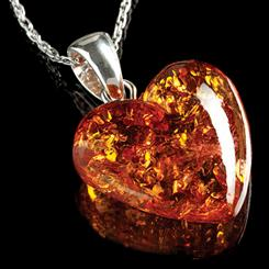 Amber Heart Necklace