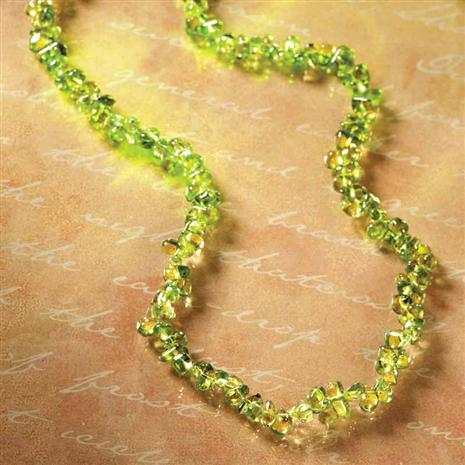 filled products necklace in peridot gold