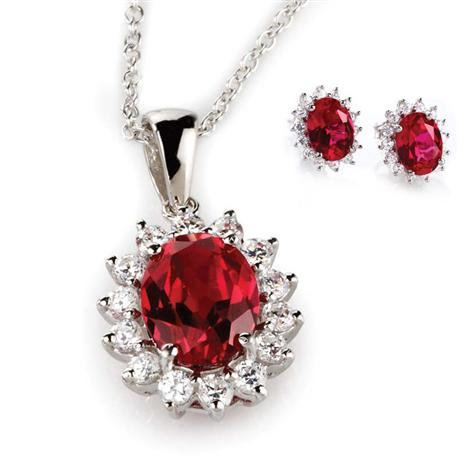 Crimson Passion Scienza® Necklace and Earrings Set