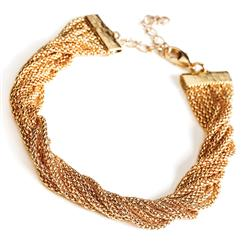 Asombro 8-Strand Gold-finished Bracelet