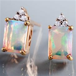 Abyssinia Opal Earrings