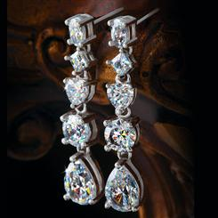 Sterling Silver Omni DiamondAura® Earrings