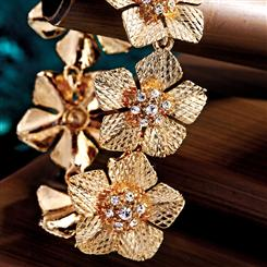 Epiphany Golden Flower Bracelet