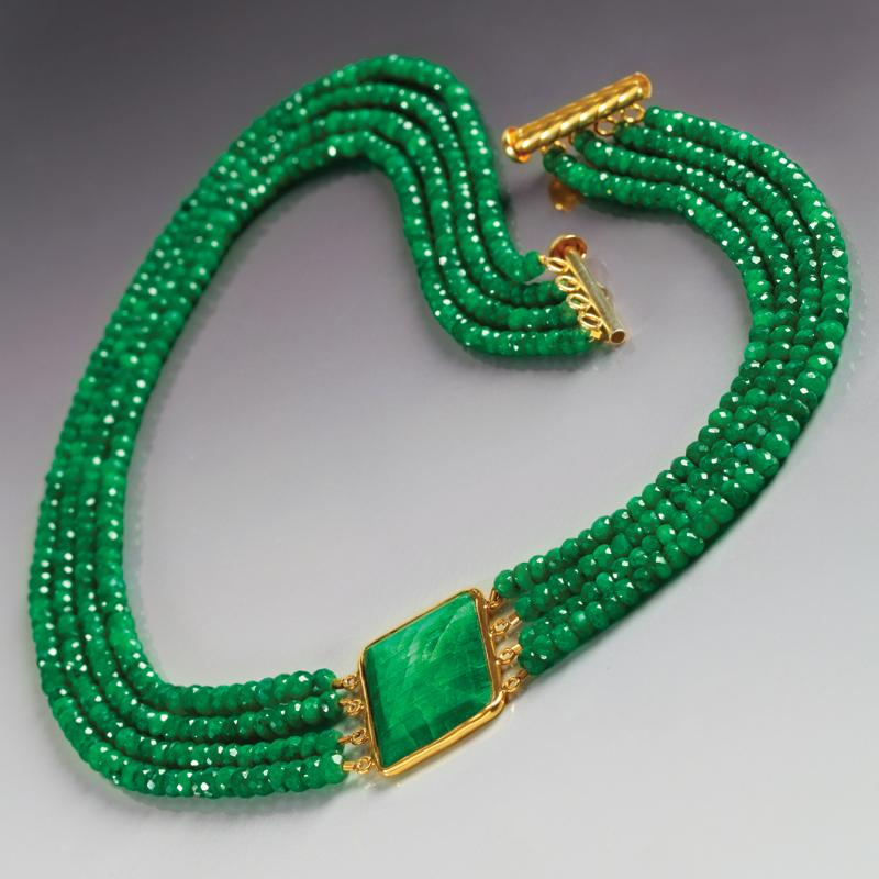Olivia Green Sapphire Necklace