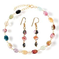 Radia Tourmaline Bracelet & Earrings Set