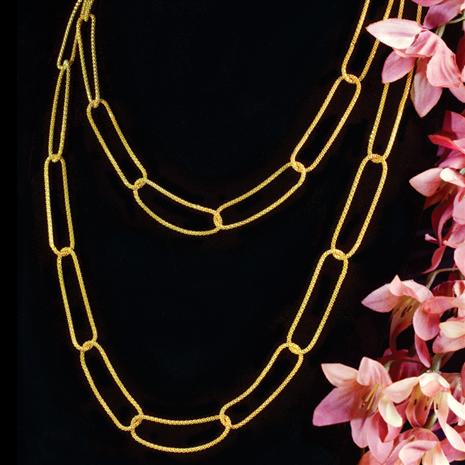 Stauer Strata Gold-finished Necklace