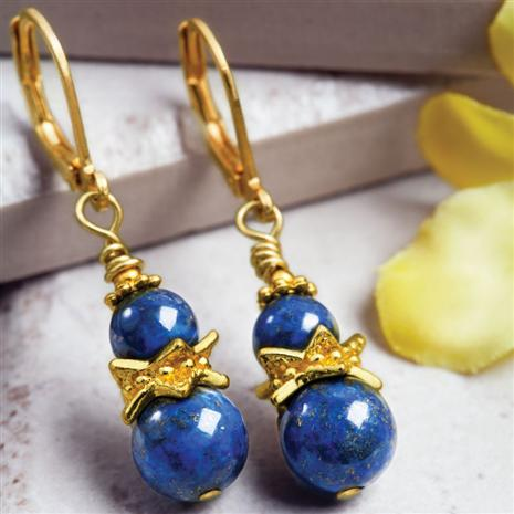Latitude Lapis Earrings
