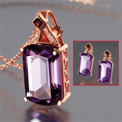 Artesia Amethyst Necklace and Earrings Set
