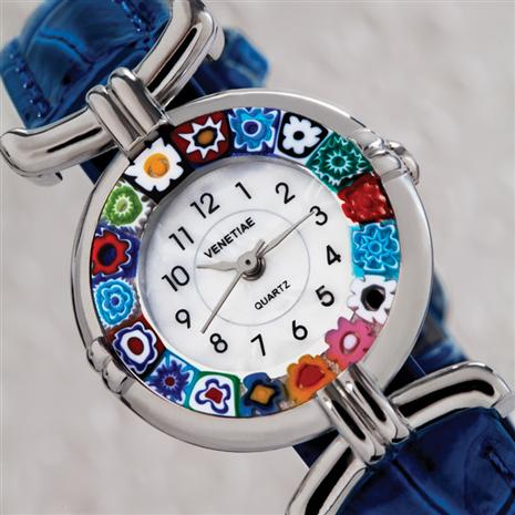 Volta Fiore Murano Blue Womens Watch
