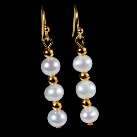 Mitsuko Organic Cultured Pearl Earrings