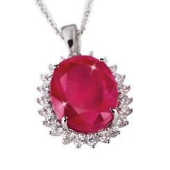 Passione Ruby & Diamond<em>Aura</em>&reg; 10-carat Necklace