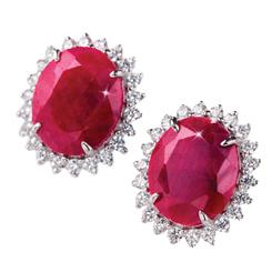 Passione Ruby & Diamond<em>Aura</em>&reg; Earrings