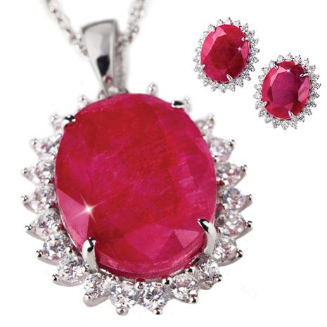 Passione Ruby Necklace & Earrings