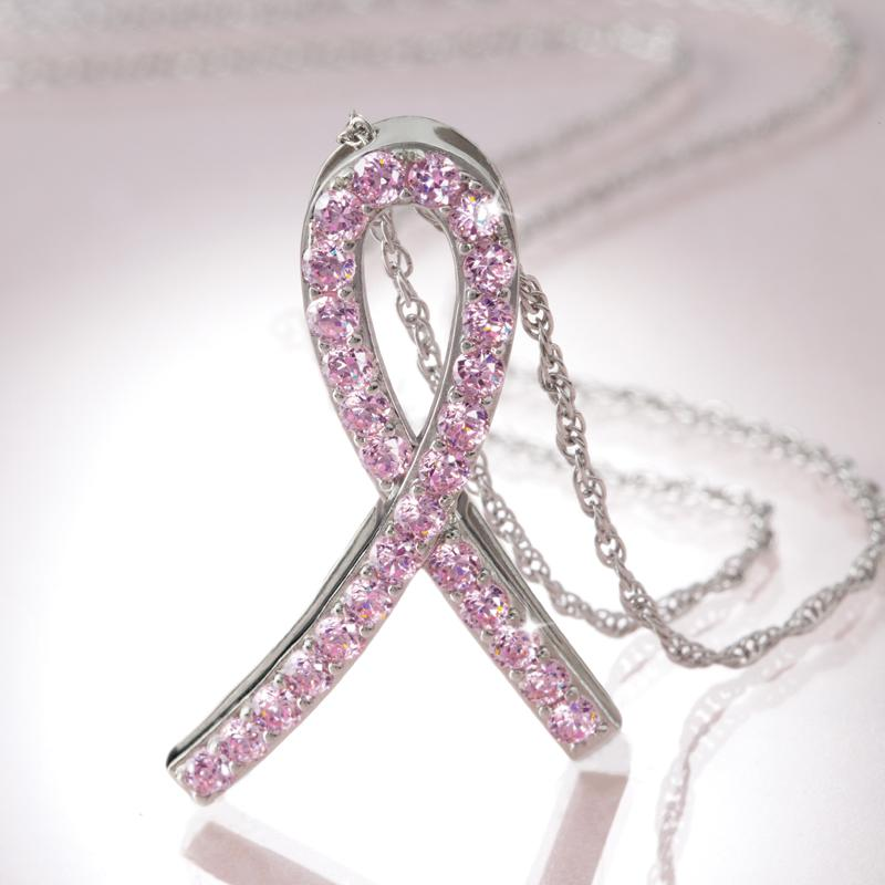 Solidarity Pink Ribbon Necklace 25035 Stauer Com