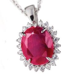 Passione Ruby & Diamond<em>Aura</em>&reg; 5-carat Necklace