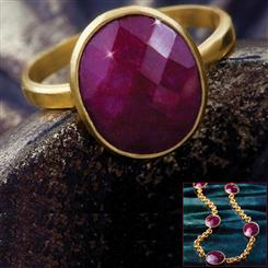 Regalo Ruby Necklace and Ring Collection