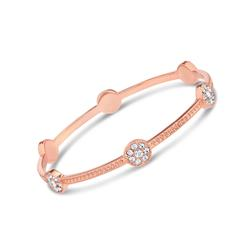 Triplet Bangle Rose-gold-finished