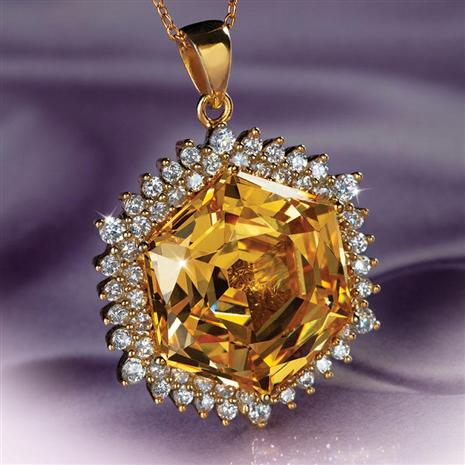 Castile Yellow Diamond<em>Aura</em>&reg; Pendant