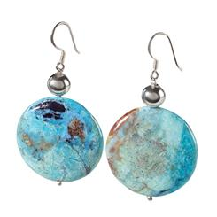 African Blue Opal Earrings