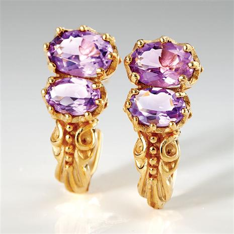 Ana Luiza Amethyst Earrings