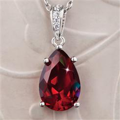 Diamond<em>Aura</em>&reg; Ruby Red Teardrop Pendant