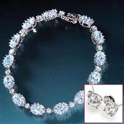 Rivier&eacute; Diamond<em>Aura</em>&reg; Bracelet & Stud Earrings