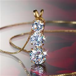 Palisade DiamondAura® 3-Stone Necklace