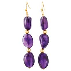Lusso Amethyst Earrings