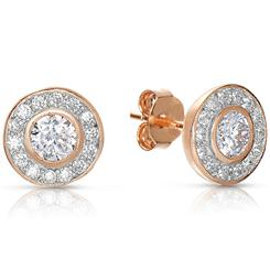 Sun and Stars Rose Gold-finished DiamondAura® Earrings