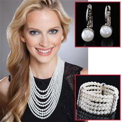 Nueve Necklace, Bracelet & Earrings Set