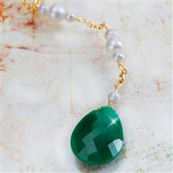 Green Jaguar Emerald Necklace