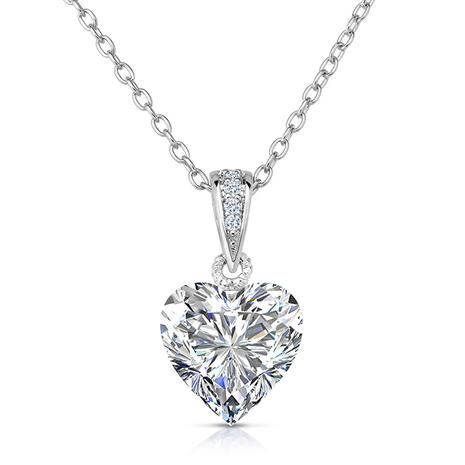 Rock of Love DiamondAura® White Heart Pendant