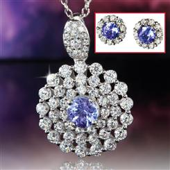 Sunset Tanzanite Pendant & Earrings Set